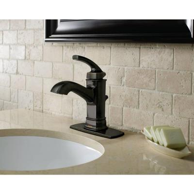 Hensley Single Hole Single-Handle Bathroom Faucet in Mediterranean Bronze