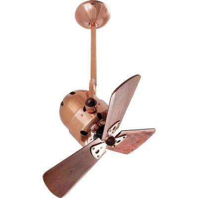 Pertoria 16 in. 3-Blade Polished Copper Ceiling Fan