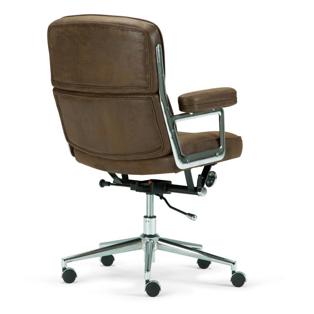 Astounding Simpli Home Barton Swivel Adjustable Executive Computer Theyellowbook Wood Chair Design Ideas Theyellowbookinfo