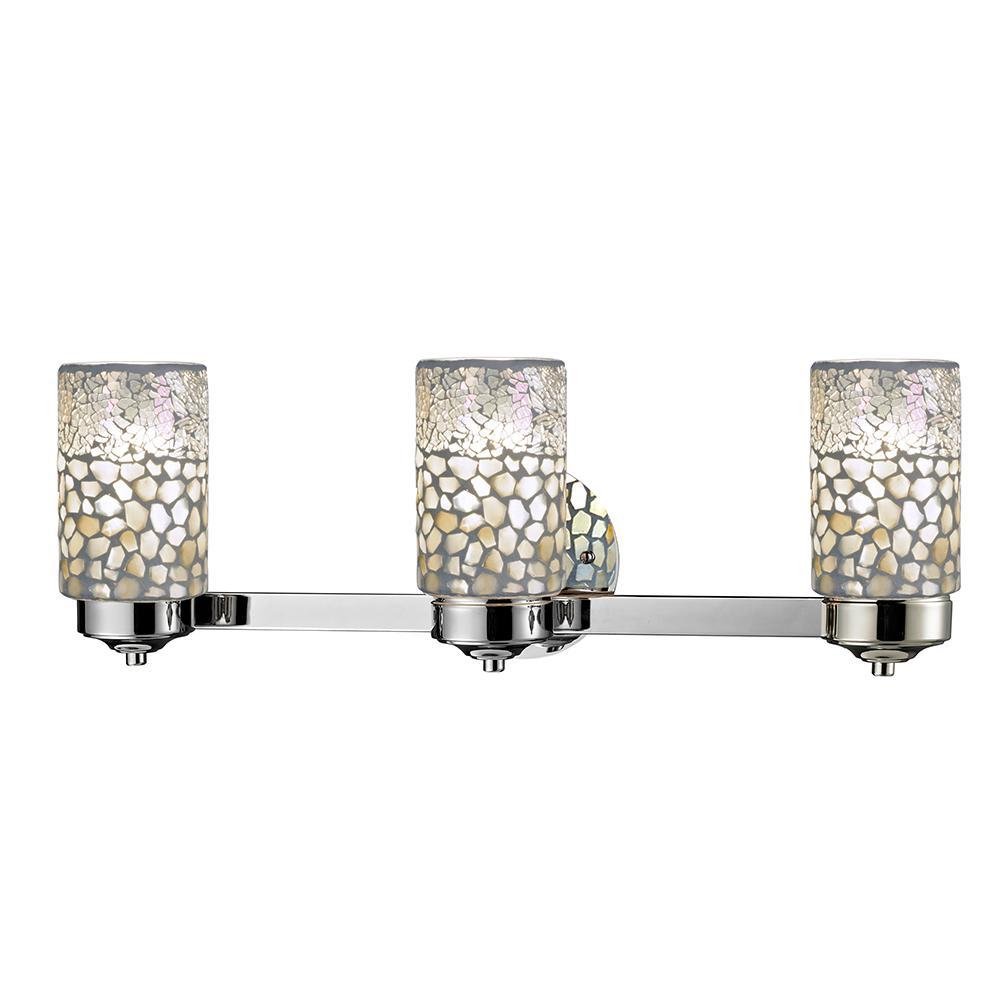 Springdale lighting alps 3 light brushed nickel bath light for Best lighting for bathroom vanity area