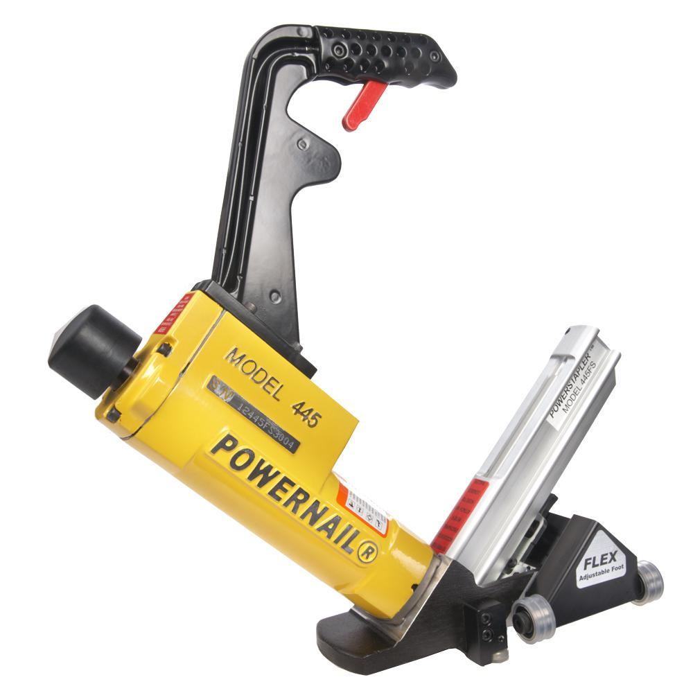 POWERNAIL 15.5-Gauge Flex Power Roller Pneumatic Hardwood Flooring Power Stapler