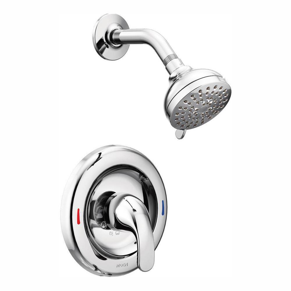Adler Single-Handle 4-Spray Shower Faucet in Chrome (Valve Included)