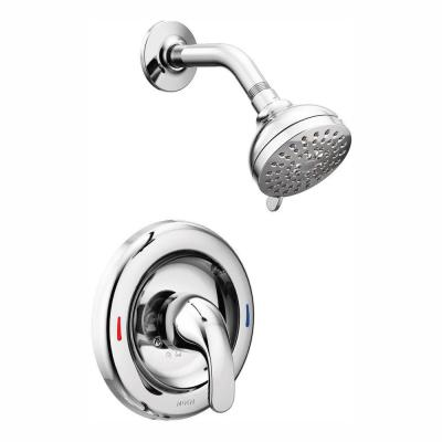 Adler Single-Handle 4-Spray Shower Faucet in Chrome (Valve Included)