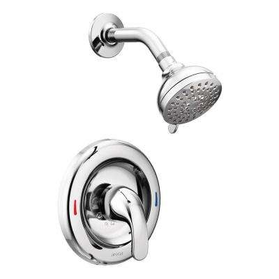 Adler Single-Handle 4-Spray Shower Faucet with Valve in Chrome (Valve Included)