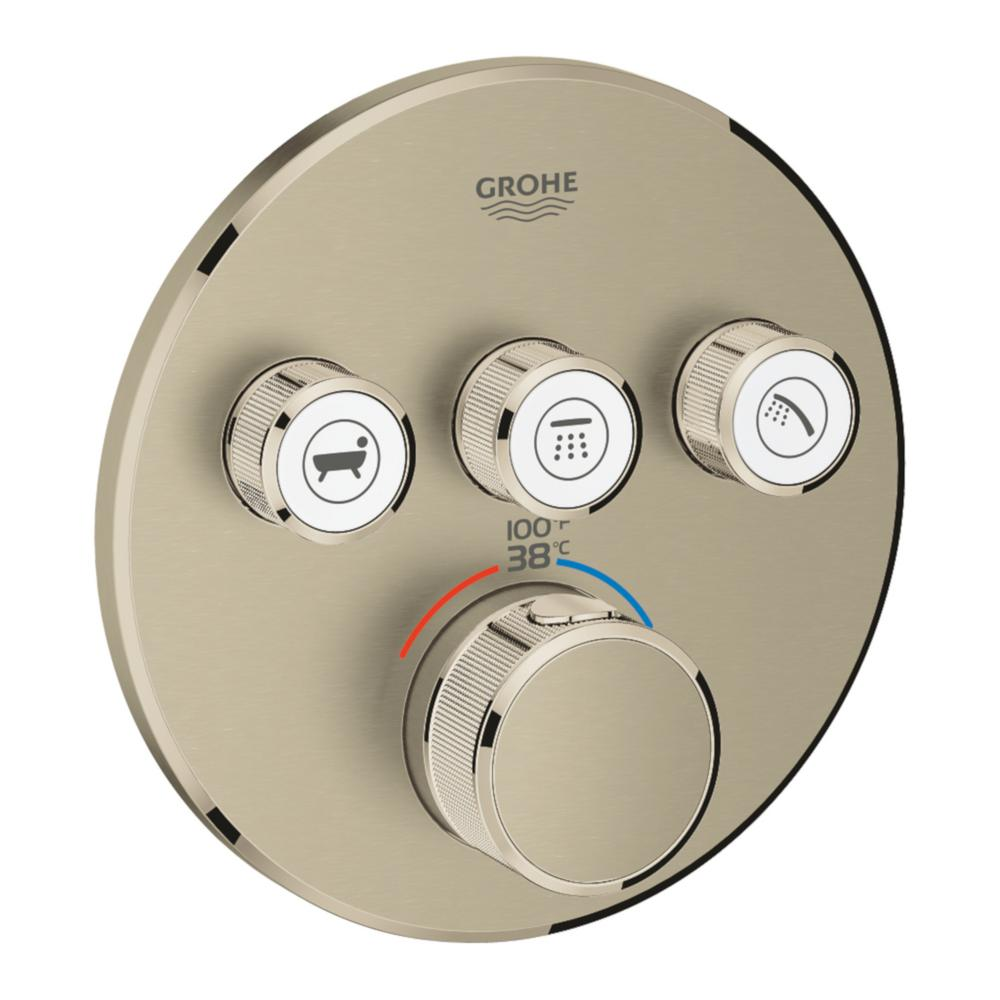 grohe grohtherm smart control triple function round. Black Bedroom Furniture Sets. Home Design Ideas