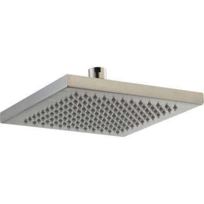 Arzo 1-Spray 8 in. Single Wall Mount Fixed Rain Shower Head in Stainless