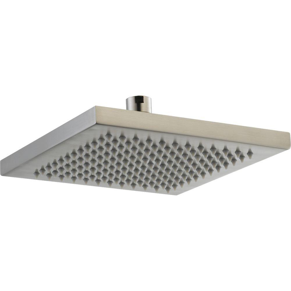 Delta Arzo 1-Spray 8 in. Overhead Raincan Shower Head in Stainless ...