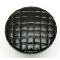 Taymor 1-1/4 in. Satin Nickel Basket Weave Cabinet Knob-DISCONTINUED