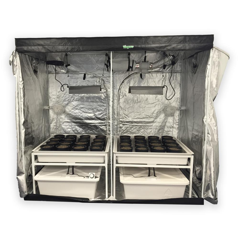 Viagrow 4 ft. L x 8 ft. W x 7 ft. H Hydro Grow Room Delux...