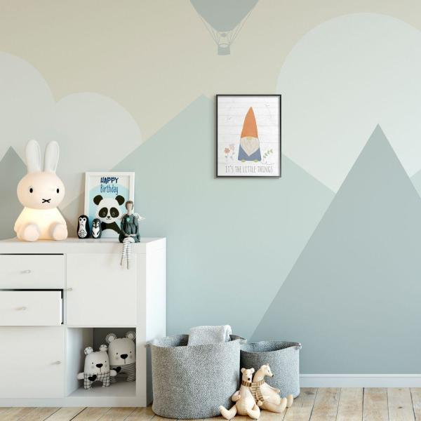 "The Kids Room by Stupell 11 in. x 14 in. ""Kids Inspirational Word Cute Colorful Gnome Drawing"" by Anna Quach Framed Wall Art"