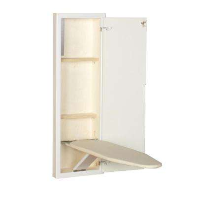 White Prefinished in-Wall Ironing Board