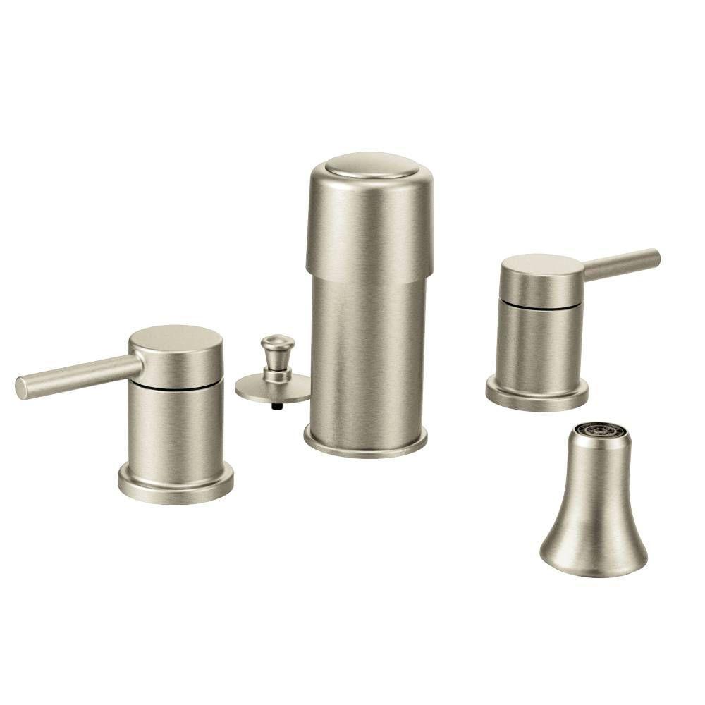 Align 2-Handle Bidet Faucet Trim Kit in Brushed Nickel (Valve Not Included)