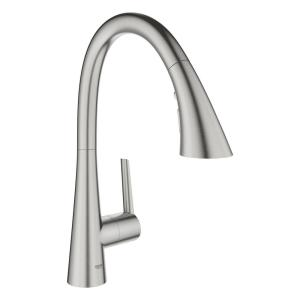 Ladylux L2 Single-Handle Pull-Out Sprayer Kitchen Faucet with Swivel Spout in SuperSteel Infinity Finish