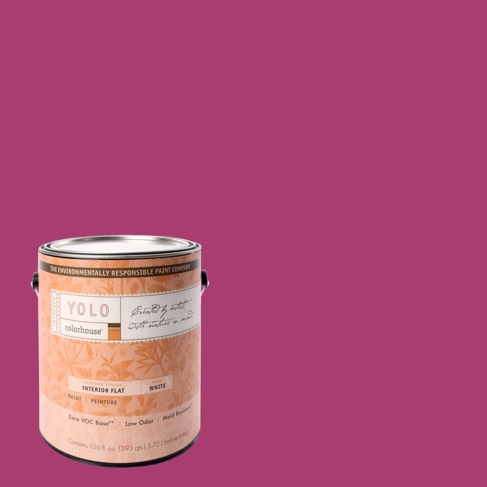 YOLO Colorhouse 1-gal. Petal .04 Flat Interior Paint-DISCONTINUED