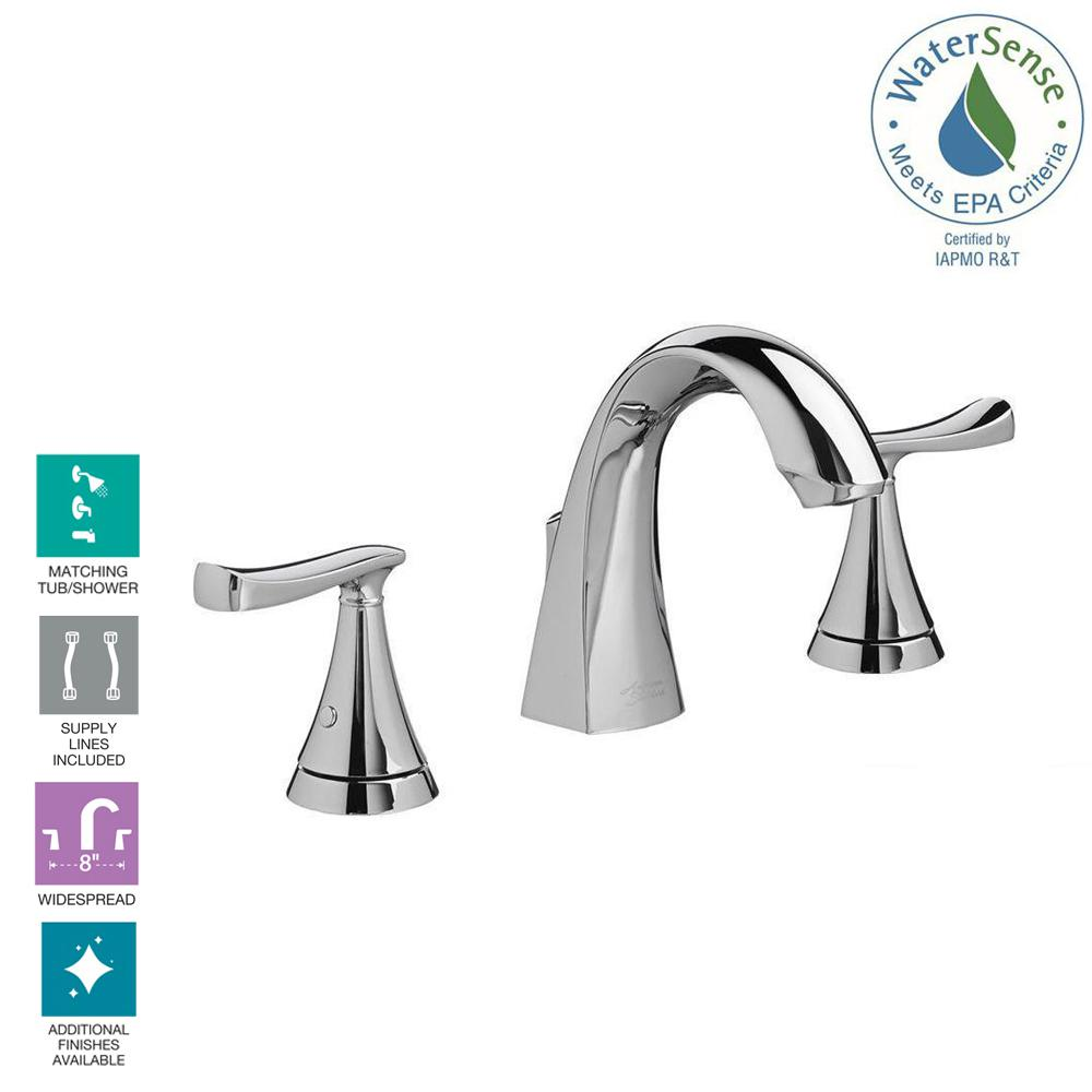 American Standard Chatfield 8 In Widespread 2 Handle Bathroom Diagram As Well Double Kitchen Sink Drain Plumbing On Delta Faucet Polished Chrome