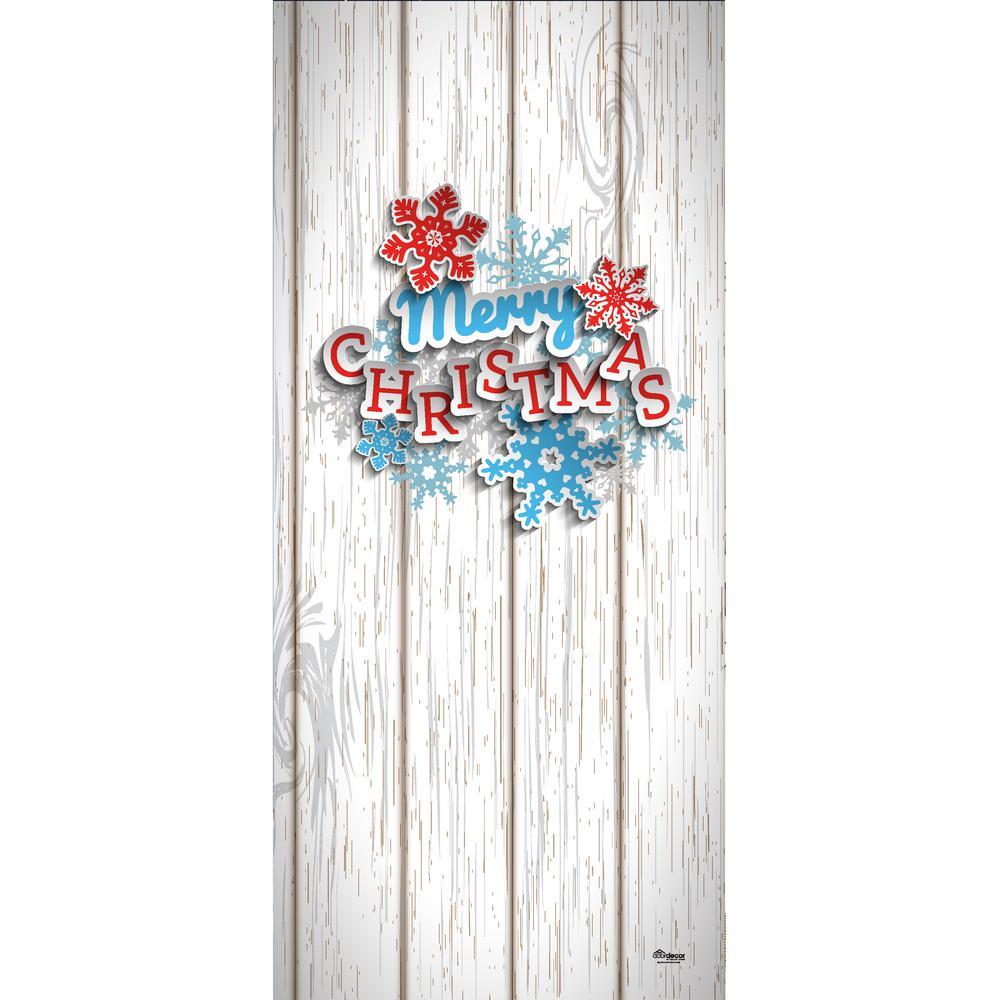 My Door Decor 36 In X 80 In Let It Snow Christmas Front Door Decor Mural 285906xmas 014 The Home Depot