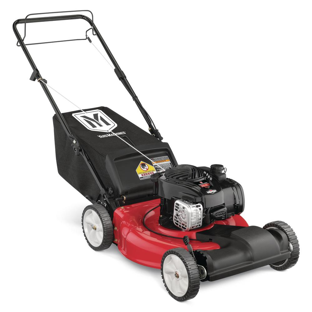 yard machines 21 in 140 cc ohv briggs and stratton walk behind gas