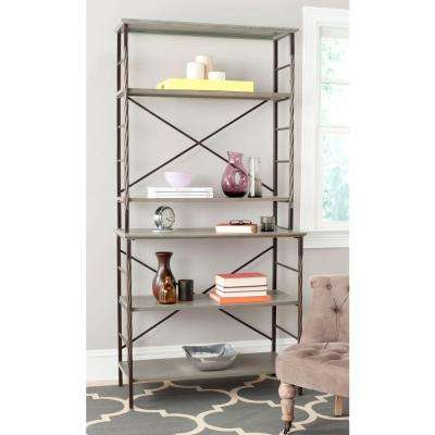 Brooke Ash Gray Open Bookcase