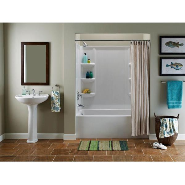 American Standard Cadet 6 In Pedestal Sink Basin With 8 In Faucet Centers In White 0236 008 020 The Home Depot