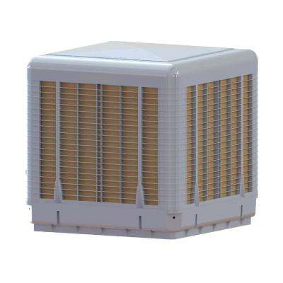 7000 CFM 115 Volt 2-Speed Down/Side Discharge Roof Top Evaporative Cooler for 2500 sq. ft. (with Motor)
