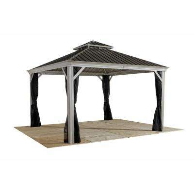 12 ft. x 14 ft. Messina Gazebo in Beige