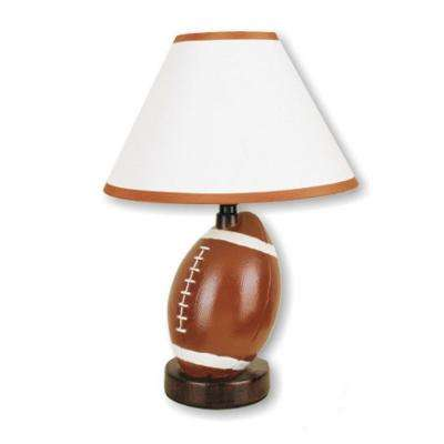 Ceramic football brown table lamp