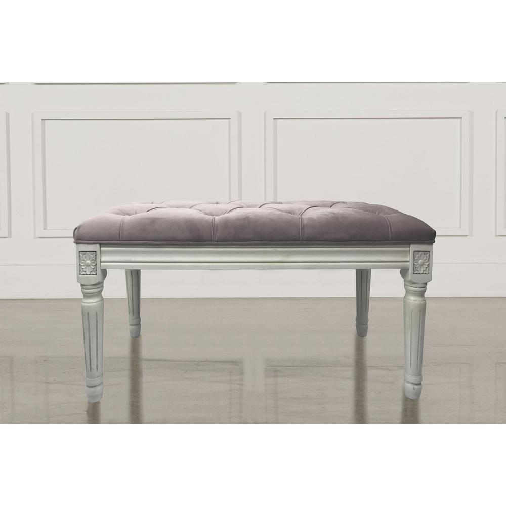 bedroom benches. Christie s Rose Quartz Velvet French Bench Pink  Bedroom Benches Furniture The Home Depot