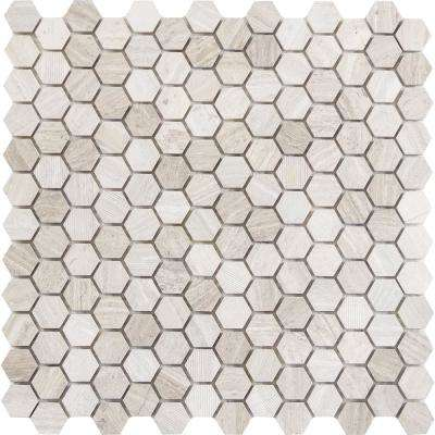 Marble Cream Honed 12 01 In X 17 10 Mm Limestone Mesh