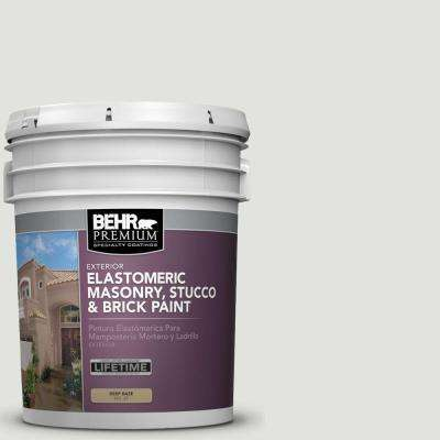 5 gal. #MS-55 Arctic Gray Elastomeric Masonry, Stucco and Brick Exterior Paint