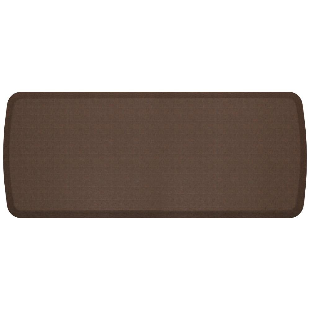 Elite Linen Truffle 20 in. x 48 in. Comfort Kitchen Mat