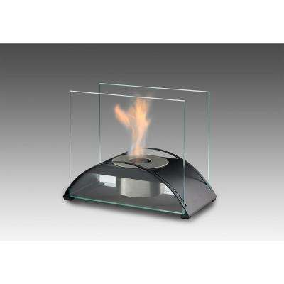 Sunset 10 in. Ethanol Tabletop Fireplace in Matte Black