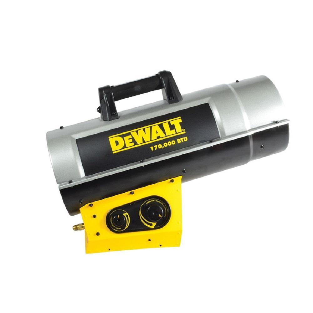 Forced Air Propane Heater >> Dewalt 170 000 Btu Forced Air Propane Heater Dxh170favt The Home Depot