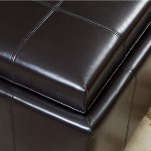 Sensational Noble House Mason Espresso Brown Bonded Leather Tray Top Caraccident5 Cool Chair Designs And Ideas Caraccident5Info