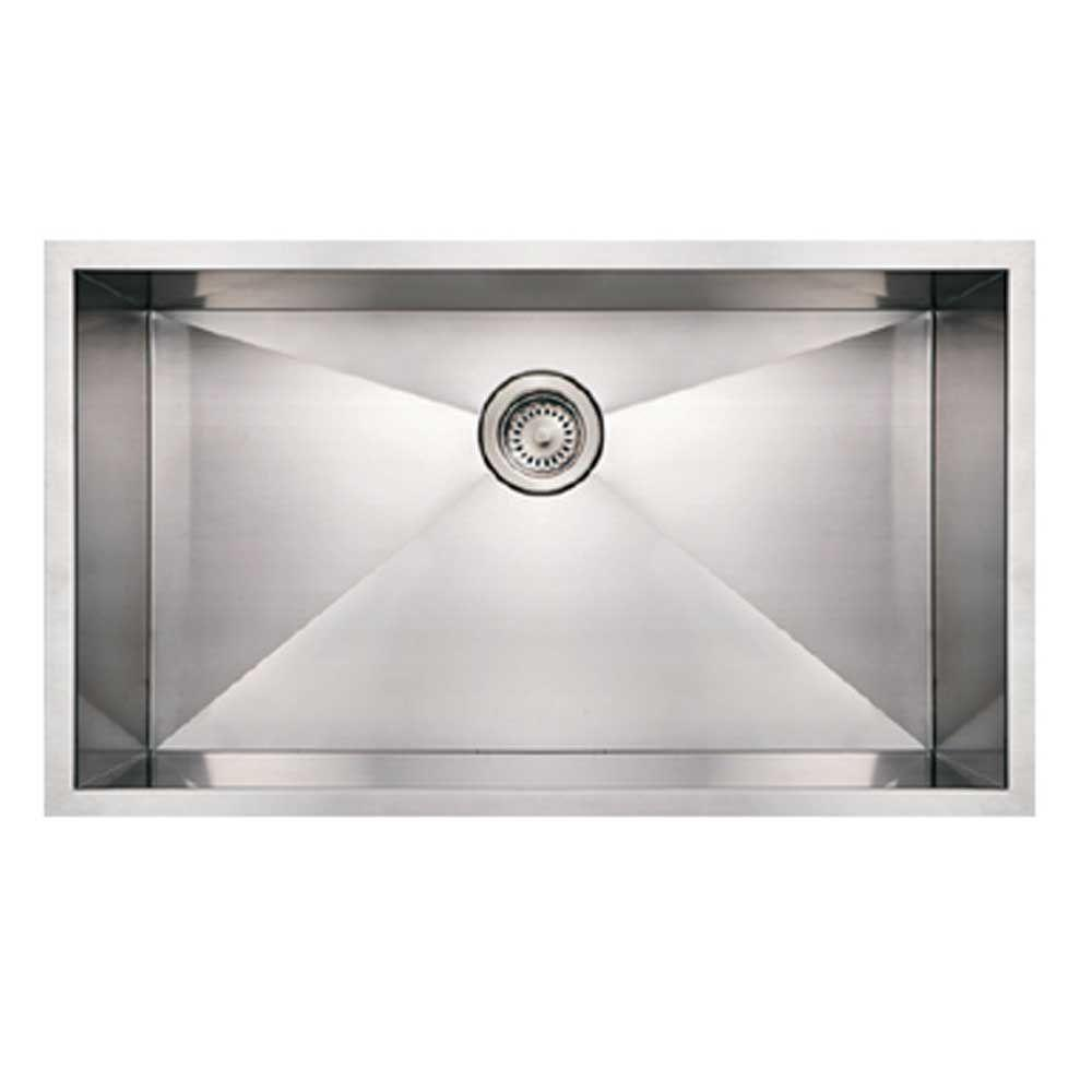 Whitehaus Collection Noah S Brushed Undermount Stainless Steel 32 In 0 Hole Single Bowl