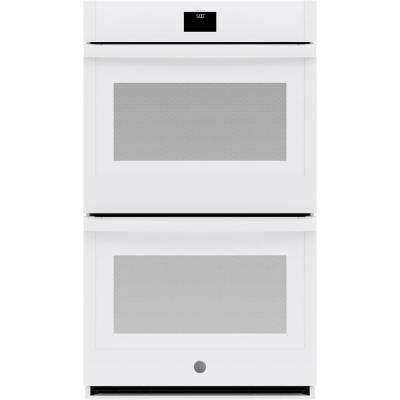 30 in. Smart Double Electric Wall Oven with Convection (Upper Oven) Self-Cleaning in White