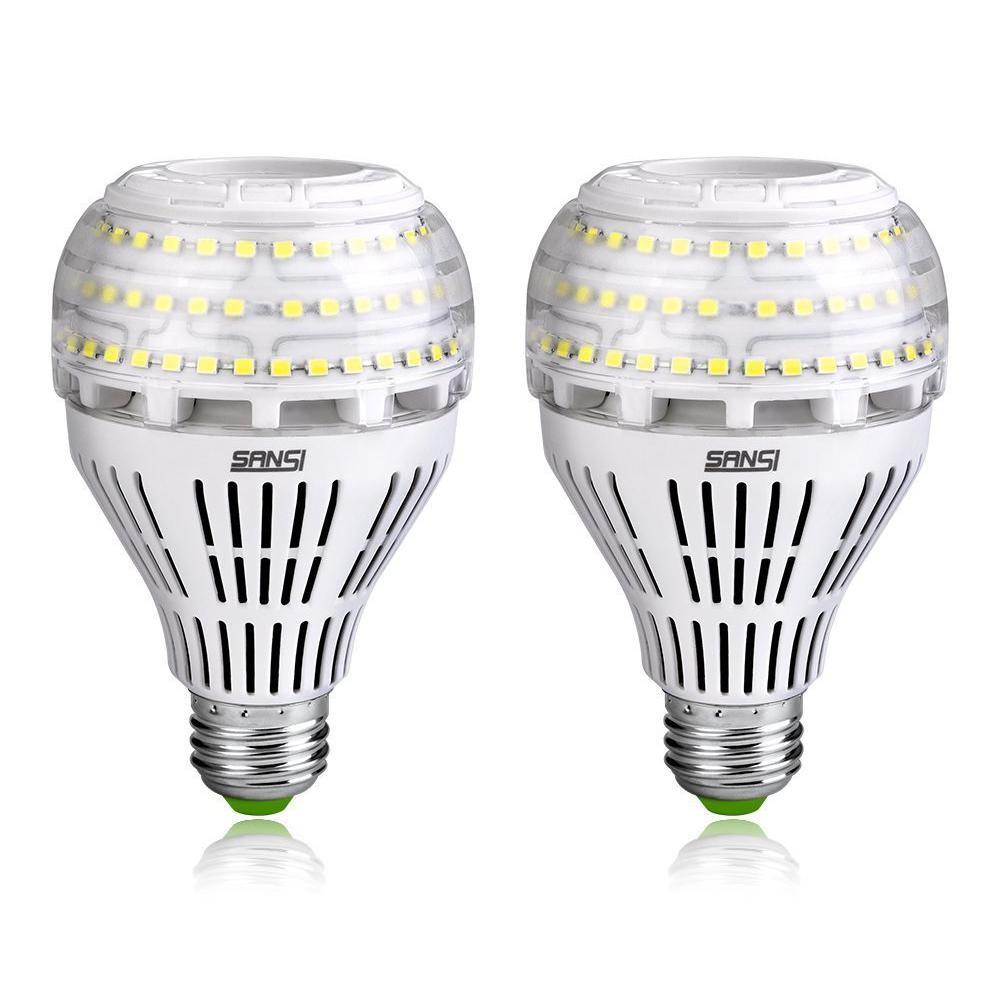 200-Watt Equivalent A21 Non-Dimmable 3000 Lumens LED Light Bulb Daylight in 5000K (2-Pack)