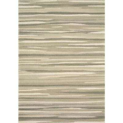 Water Color Grey 1 ft. 11 in. x 7 ft. 4 in. Indoor Area Rug