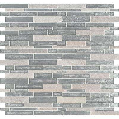 Evita Ice Interlocking 12 in. x 11.75 in. x 8mm Glass Stone Mesh-Mounted Mosaic Tile (9.8 sq. ft. / case)