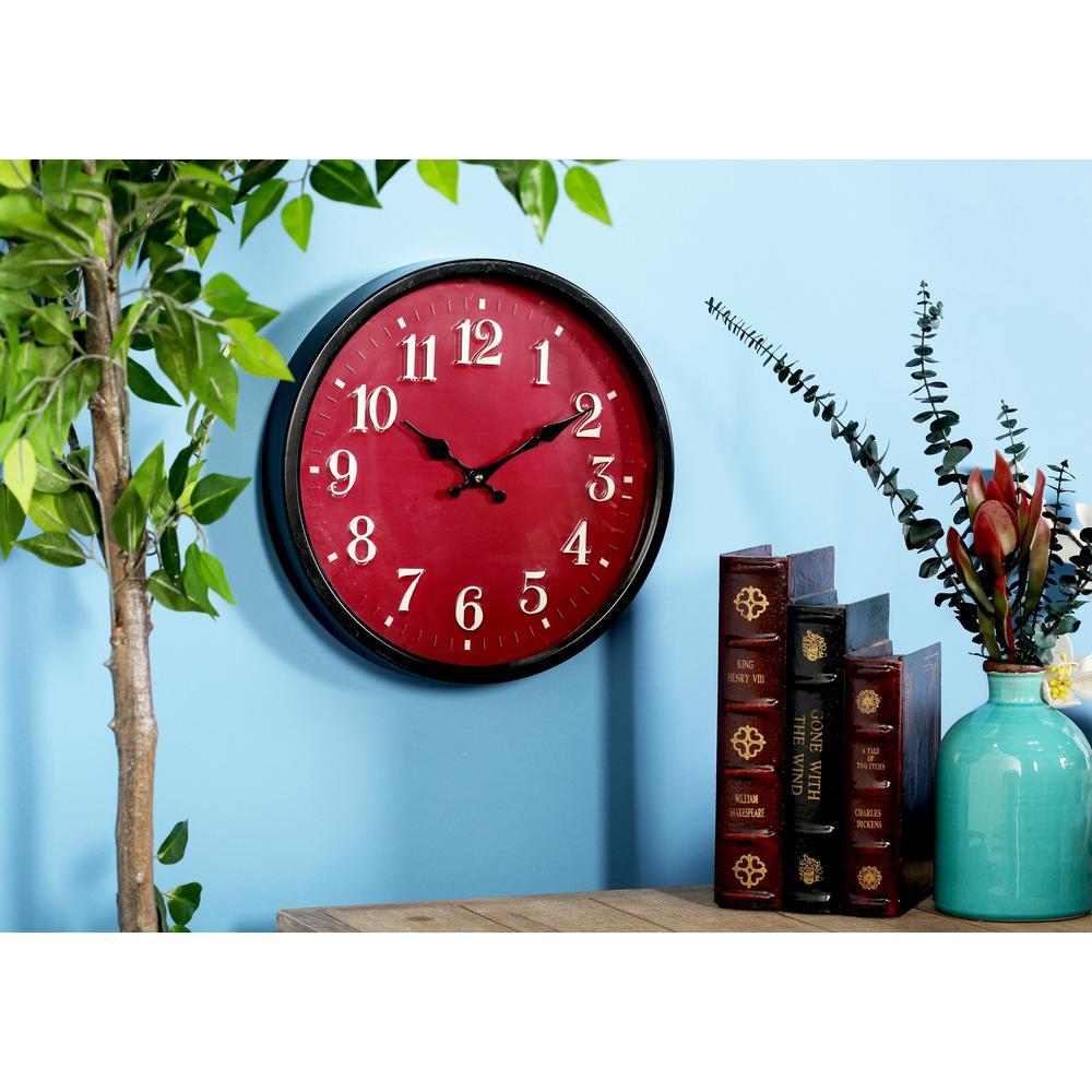 Multi-Colored Modern Analog Wall Clock