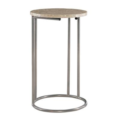 Maureen Silver Capiz Mosaic Accent C Table