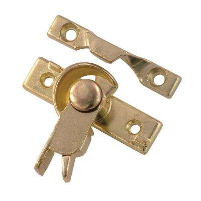 Cam Action Polished Brass Safety Sash Window Lock
