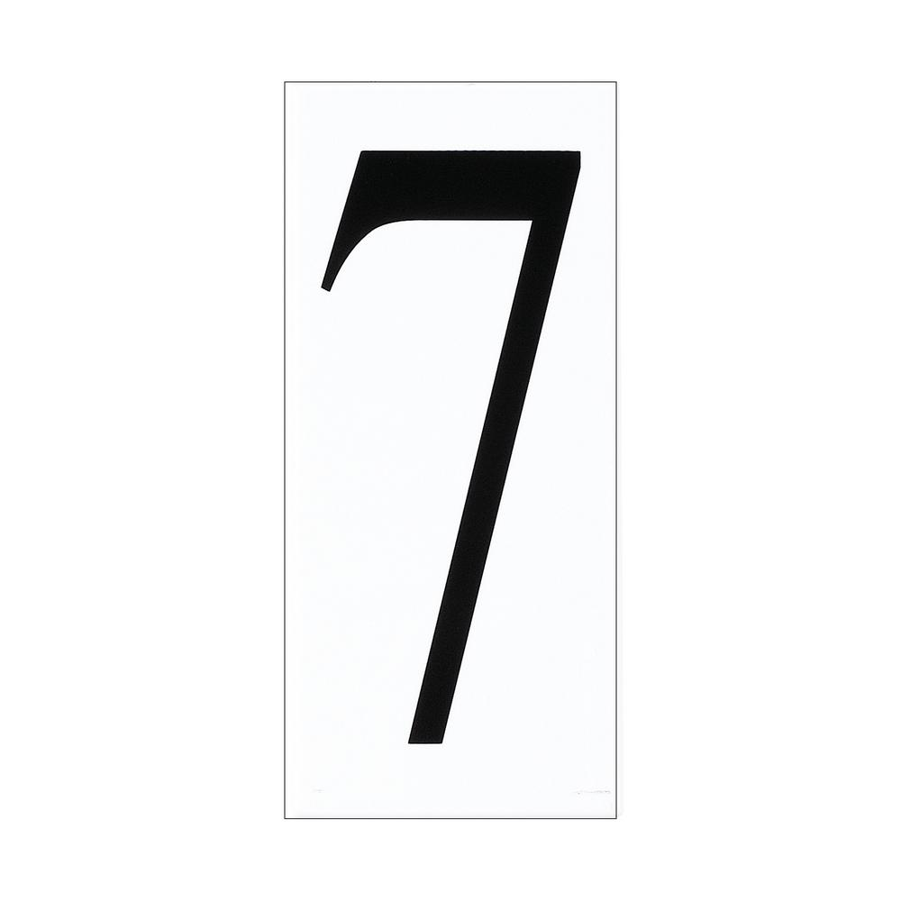 Address Light Collection White Plastic Number 7 Tile