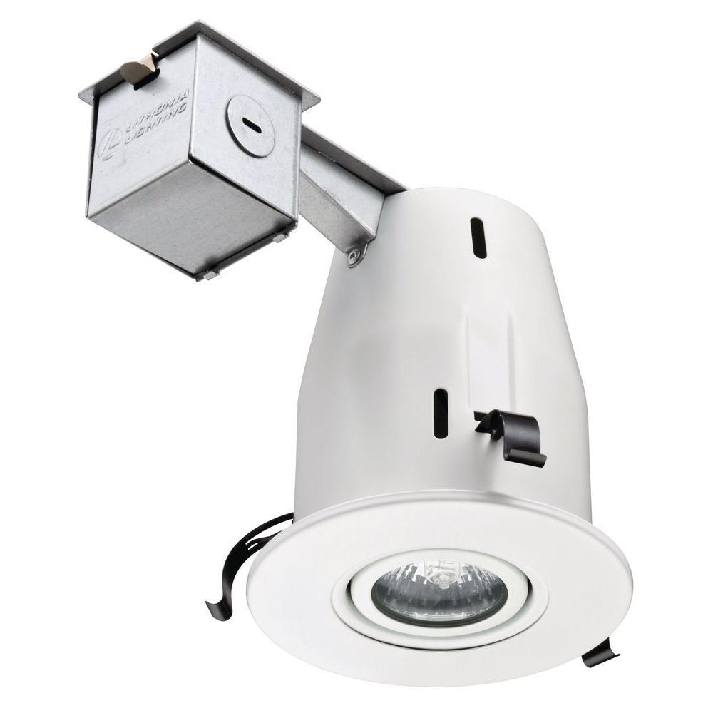Lithonia Lighting 4 In Gu10 Matte White Recessed Gimbal Kit