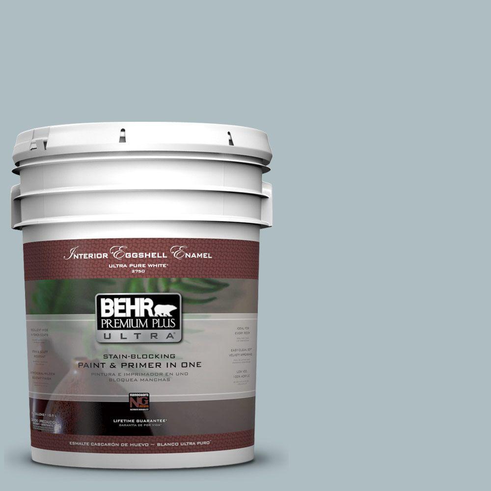 BEHR Premium Plus Ultra 5-gal. #PMD-99 Arctic Ocean Eggshell Enamel Interior Paint