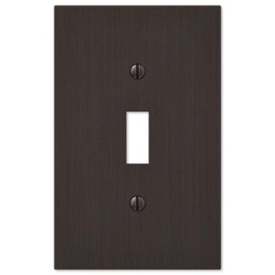 Barnard 1 Gang Toggle Metal Wall Plate - Aged Bronze