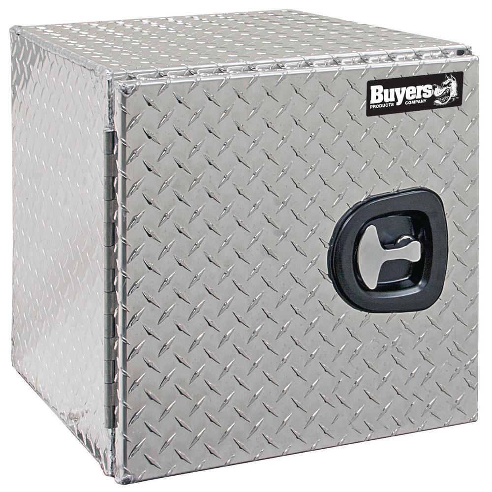 Diamond Tread Aluminum Underbody Truck Box with Single Barn Door, 18 in. x 18 in. x 24 in.