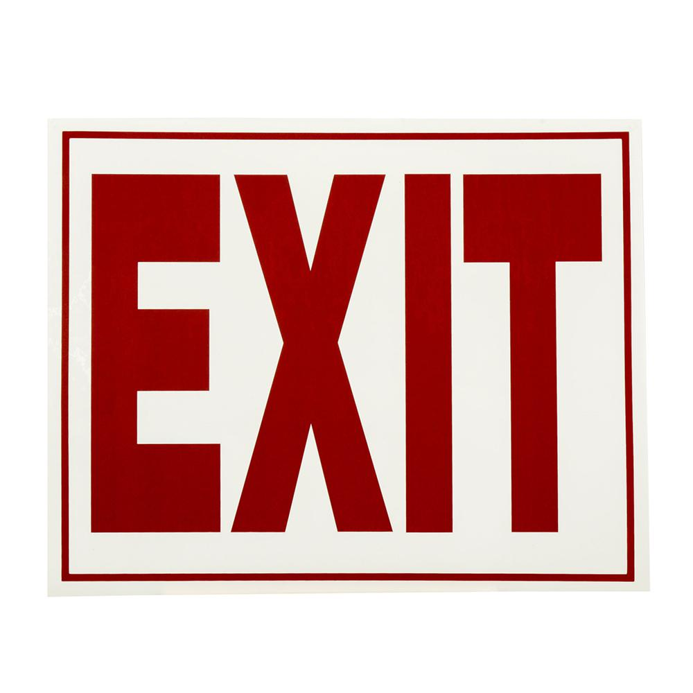 Everbilt 8 in. x 11 in. Glow-in-the-Dark Exit Sign