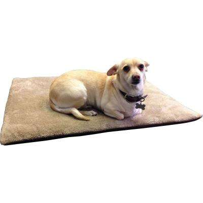 CozySpot Large Beige Polyester Plush ThermoCore Pet Mat