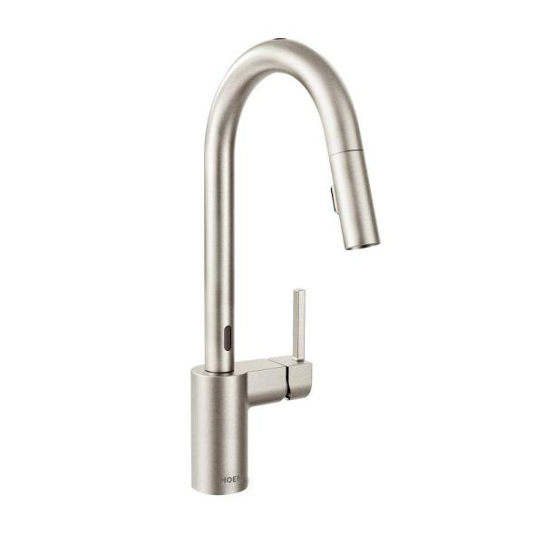 Align Single-Handle Touchless Pull-Down Sprayer Kitchen Faucet with MotionSense and Power Clean in Spot Resist Stainless
