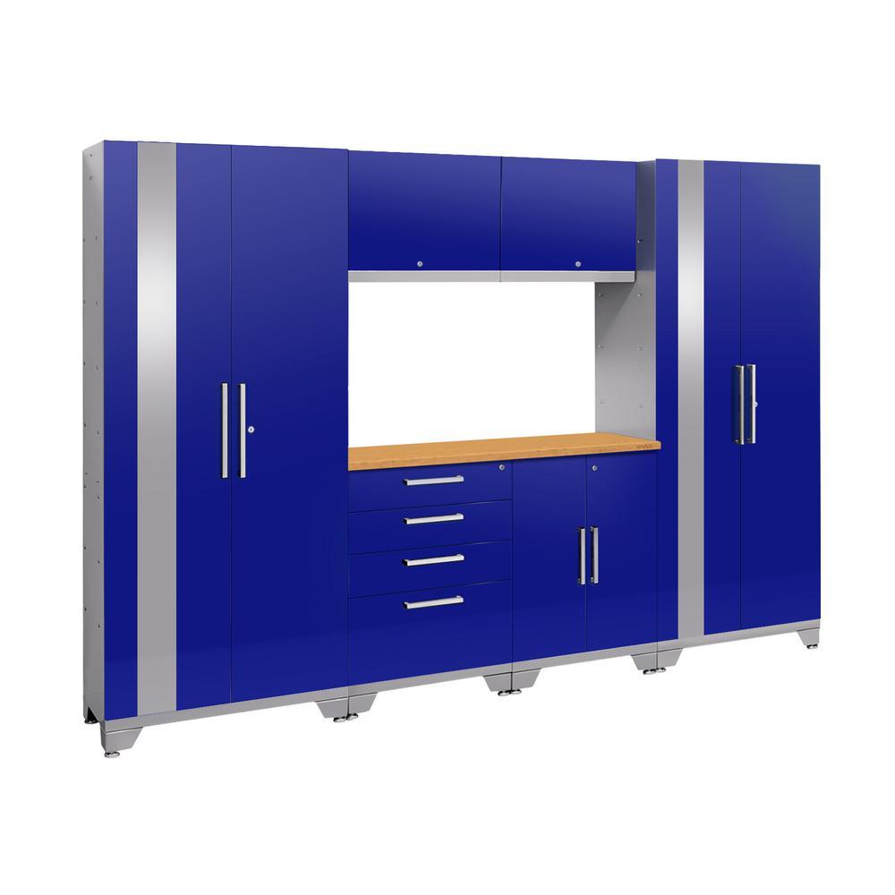 Performance 2.0 72 in. H x 108 in. W x 18 in. D Garage Cabinet Set in Blue (7-Piece)